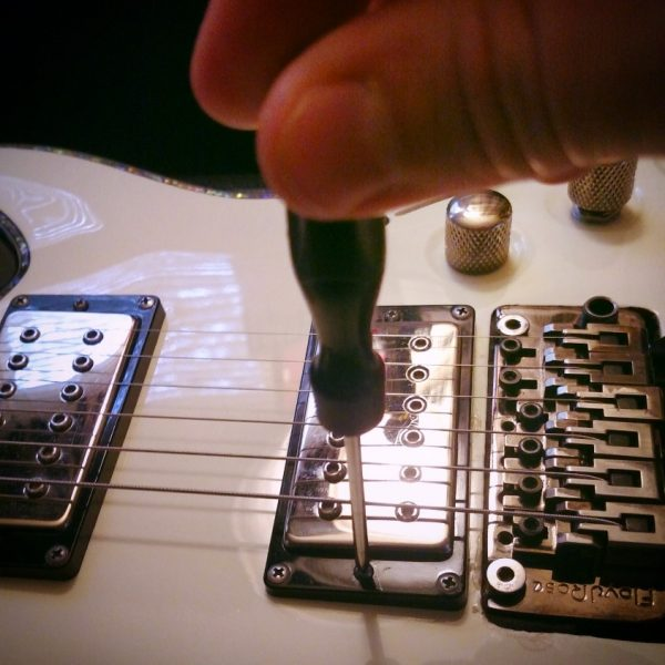 Guitar Pickup Height Adjustment Step 1
