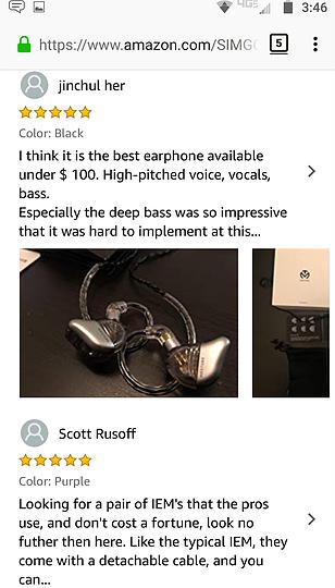 Best In Ear Headphones Under $100 SIMGOT 2