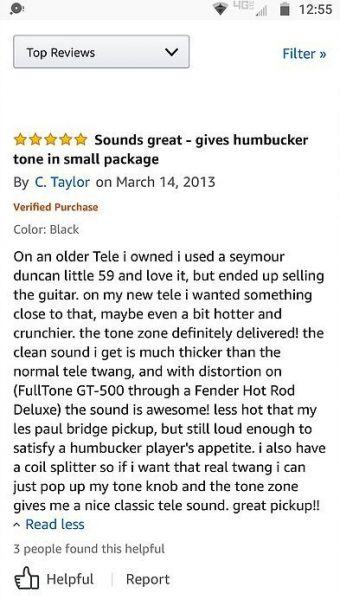 Dimarzio Tone Zone T Review 5