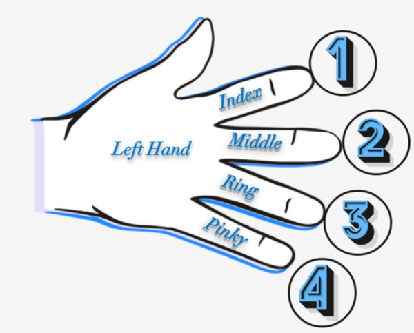 Adding the Fingers to Chord Charts / Chord Diagrams