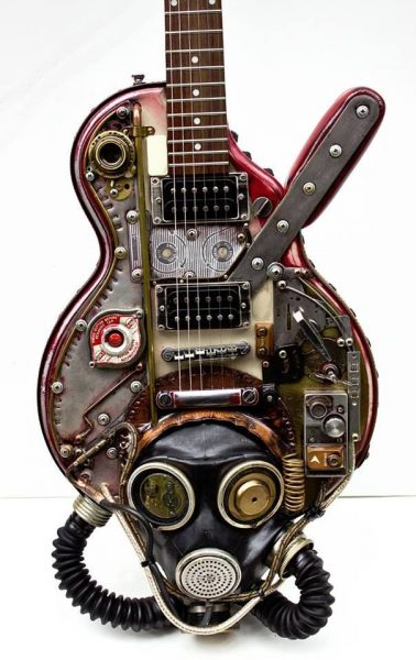 Yeah Gibson Guitar Steampunk Custom Made by carlos4728