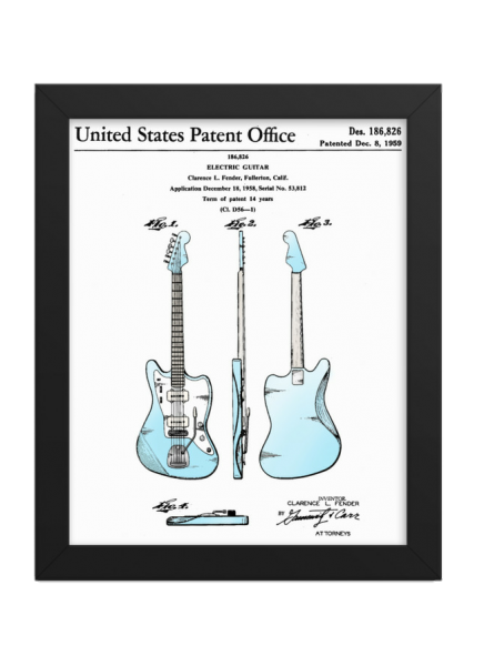 Jazzmaster Patent Leo Fender's first offset Guitar