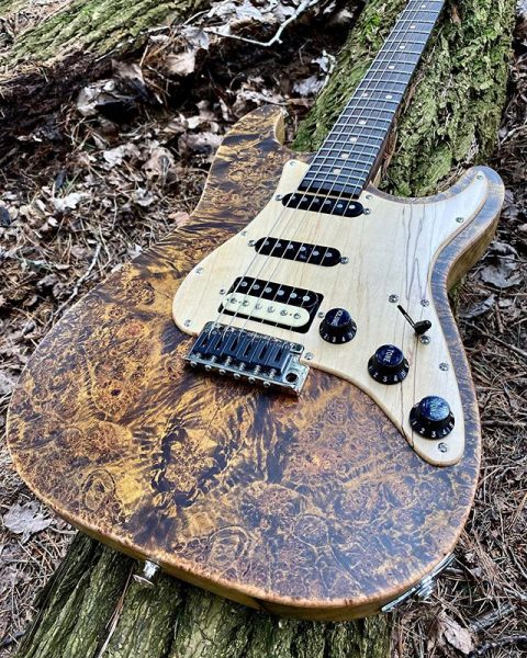 JL Custom Guitars Burl Maple Strat Clone