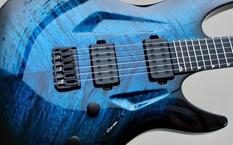 Best New Guitar Brands - Aristides Guitars Blue