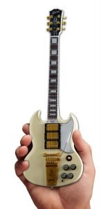 Axe Heaven Gibson 1964 SG Custom White Mini Guitar Collectible